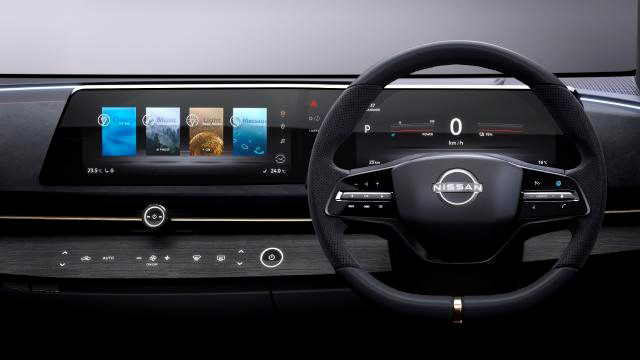 Interiøret på Nissan Ariya er skreddersydd menneskets øyne